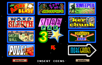 Galaxy Games StarPak 3 - Games Menu