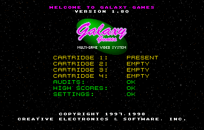 Galaxy Games StarPak 3 - Boot Screen (BIOS v1.80)